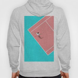 Pastel Tennis Court From Above  Hoody
