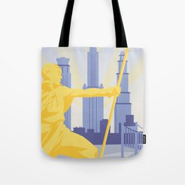 Republic City Travel Poster Tote Bag