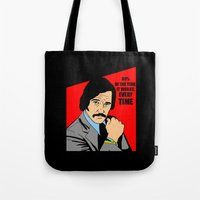 will ferrell Tote Bags featuring 60% of the time it works, every time - Brian Fantana by Buby87