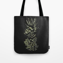 Pineapple with Glitch and Texture Tote Bag