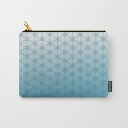 blue and grey pattern Carry-All Pouch