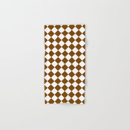 Diamonds - White and Chocolate Brown Hand & Bath Towel