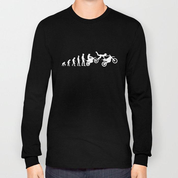 Motocross Dirtbike Evolution Gift Long Sleeve T-shirt
