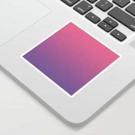 Bright Pink Ultra Violet Gradient | Pantone Color of the year 2018 Sticker