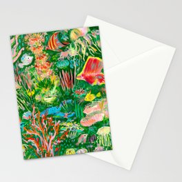 It's a sea green world Stationery Cards