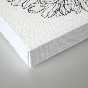 Ink Illustration of Summer Blooms Canvas Print