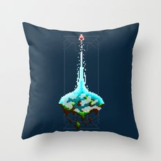 Pixel Planets : Earth Throw Pillow