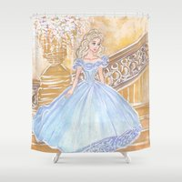 cinderella Shower Curtains featuring Cinderella by carotoki