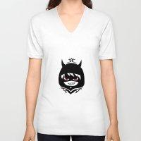 hetalia V-neck T-shirts featuring Demon Pru by Jackce