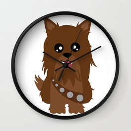 Chewbacca the Yorkie Wall Clock