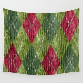 Pink Roses in Anzures 3 Argyle 1 Wall Tapestry
