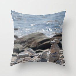 Balancing Serenity Rocks Throw Pillow