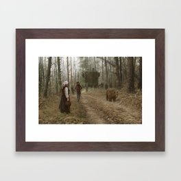 better watch out, he really likes mushrooms Framed Art Print