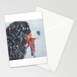 Bernese Mountain Dog art portrait Fine Art Dog Painting by L.A.Shepard Stationery Cards