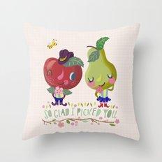 fruity love Throw Pillow