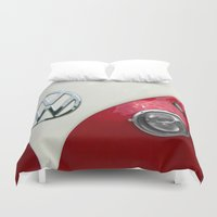 vw Duvet Covers featuring VW T2 Split Screen by Alice Gosling