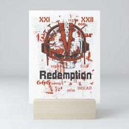 Redemption Reinforced Skull Mini Art Print