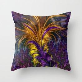 Fractal feather Throw Pillow