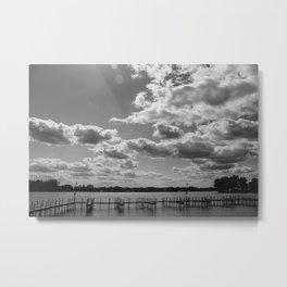 Buckeye Lake B&W Metal Print