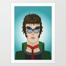 Liam Gallagher Oasis & Beady Eye Art Print