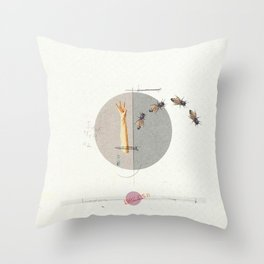 Gravity | Collage Throw Pillow