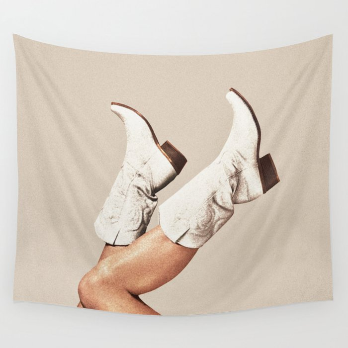These Boots - Neutral Wall Tapestry