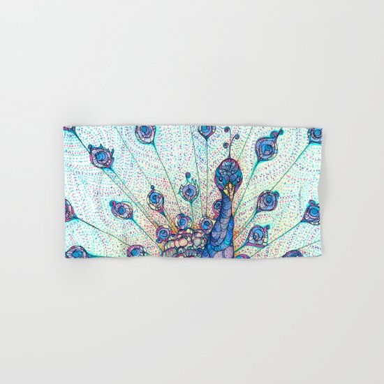 Peacock Hand & Bath Towel