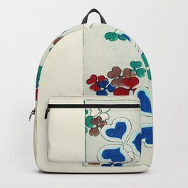 Watanabe Seitei - Heart's Clover - Japanese traditional pattern design Backpack