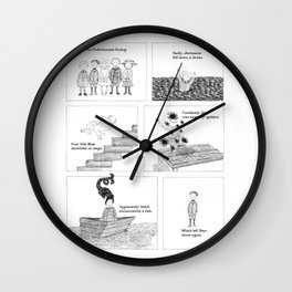 An Unfortunate Outing - Frames Wall Clock