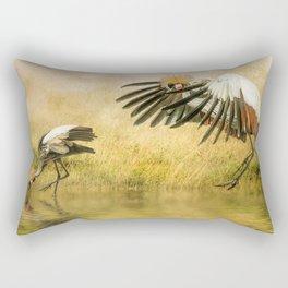 Great Crested Cranes Rectangular Pillow
