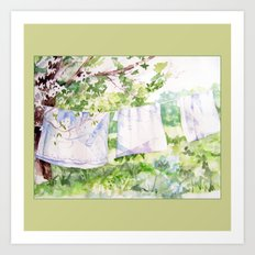 Summer Clothesline Art Print
