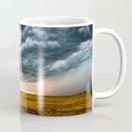Rolling Thunder - Dramatic Storm Clouds Churn Over Golden Wheat Field in Colorado Coffee Mug