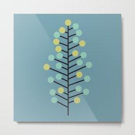 Atomic Age Abstract Holiday Tree Metal Print