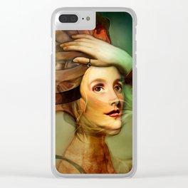 Caterpillar Girl Clear iPhone Case