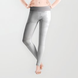 Modern pastel gray white elegant chic marble Leggings