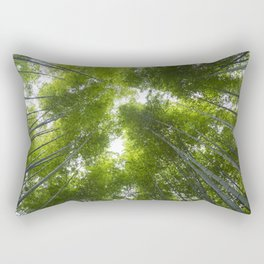 Green bamboo forest in Kyoto . japan . Rectangular Pillow