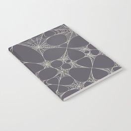 Spiderweb Pattern in Black Notebook