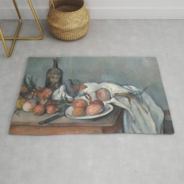 Still Life with Onions Rug