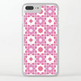 Portuguese Azulejos - Pink Palette Clear iPhone Case