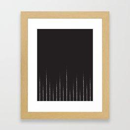 Lines in black Framed Art Print