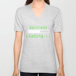 Nerdy Waitress Tee Shirt Unisex V-Neck