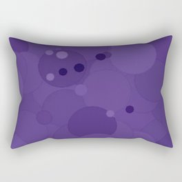 Gentian Violet Bubble Dot Color Accent Rectangular Pillow