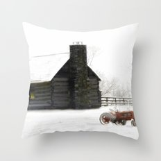 A Snowy Day in the Country Throw Pillow
