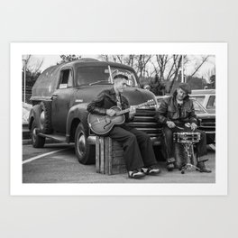 foot stomping music Art Print