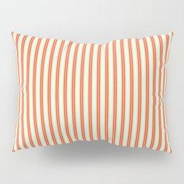 retro colored ticking style stripes Pillow Sham