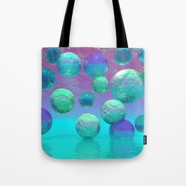 Ocean Dreams - Aqua and Indigo Ocean Universe Tote Bag
