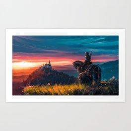 Witcher - Beyond Hill Art Print