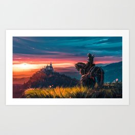 Witcher - Beyond Hill Art Print