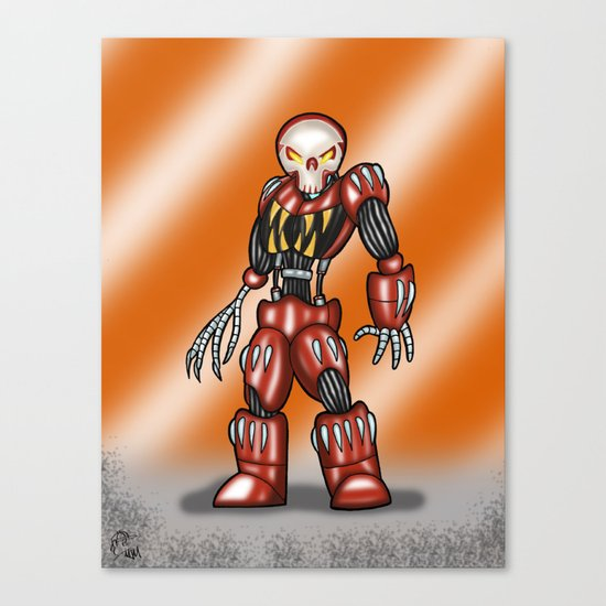 Robot Series - Outlaw Model Canvas Print