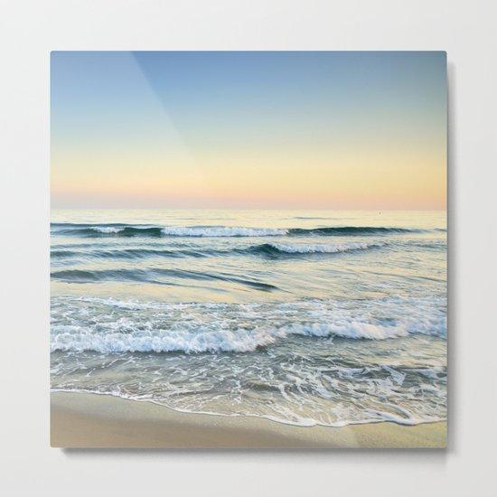Serenity sea. Vintage. Square format Metal Print